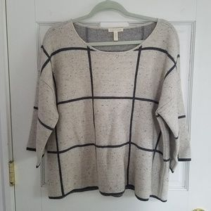 Eileen Fisher Wool Sweater in Check Print